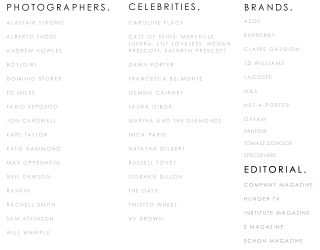 updated client list 2015